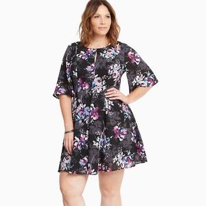 NWT torrid floral flutter dress